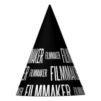 Filmmaker paper party hat (black edition)