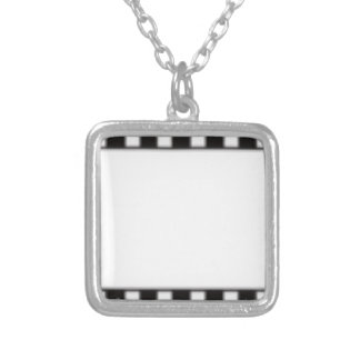filmstrip silver plated necklace