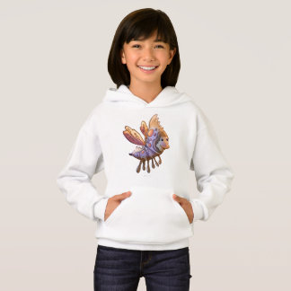 FILOUPPIN  ALIEN MONSTER CARTOON Hoodie Girl WHITE