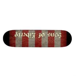 Fils de drapeau de liberté plateaux de skateboards customisés