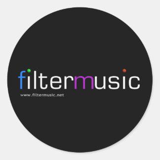 FilterMusic round sticker