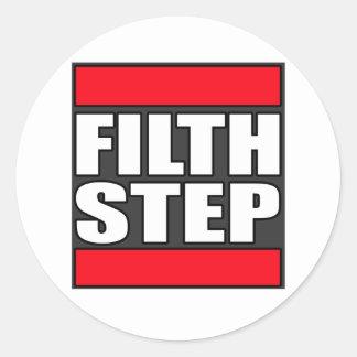 FILTHSTEP Dubstep Filth Filthy Dub Step Classic Round Sticker