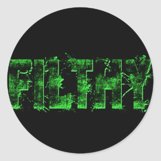 'Filthy' Lime Stickers