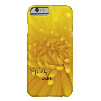 Fin en épi jaune lumineuse de dahlia vers le haut  coque barely there iPhone 6