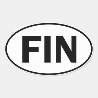 FIN Oval Identity Sign Oval Sticker