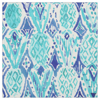 FINA PINA Tribal Ikat Pineapple Watercolor Fabric