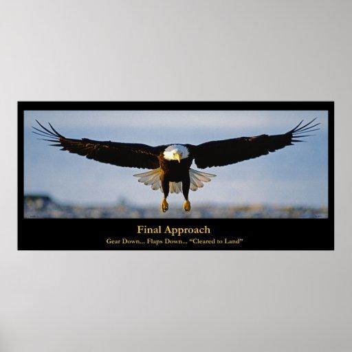 Final Approach Bald Eagle Custom Poster