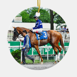 Final Chapter - Fager Stable Round Ceramic Ornament