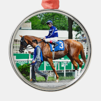Final Chapter - Fager Stable Silver-Colored Round Ornament