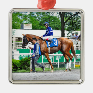 Final Chapter - Fager Stable Silver-Colored Square Ornament
