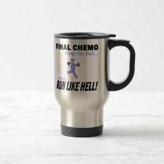 Final Chemo Run Like Hell - Lavender Ribbon Travel Mug