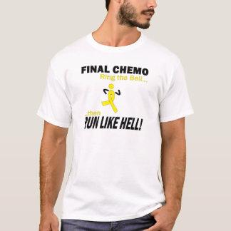 Final Chemo Run Like Hell - Testicular Cancer T-Shirt
