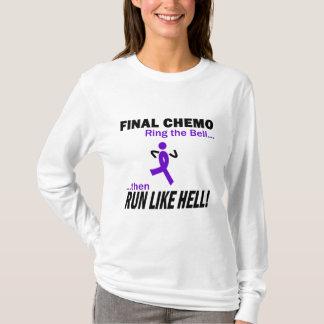Final Chemo Run Like Hell - Violet Ribbon T-Shirt