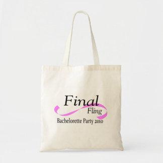 Final Fling Bachelorette Party 2010 Budget Tote Bag