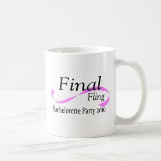 Final Fling Bachelorette Party 2010 Coffee Mugs