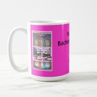 Final Fling Bachelorette Party Casino Pink Classic White Coffee Mug