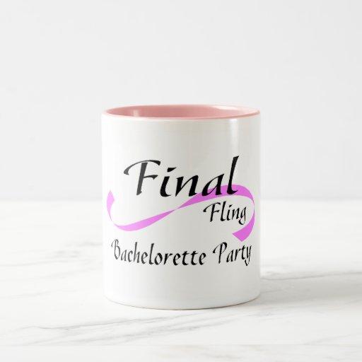 Final Fling Bachelorette Party Mugs