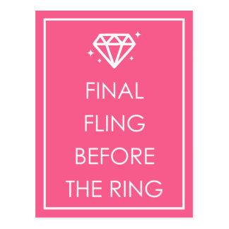 Final Fling Before The Ring Bachelorette Party Postcard