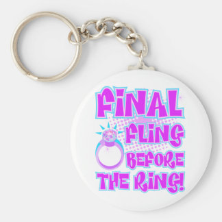 Final Fling Before The Ring Keychain