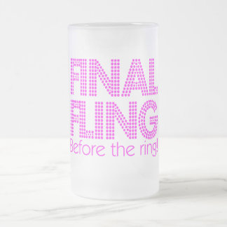 Final Fling Before The Ring Mugs