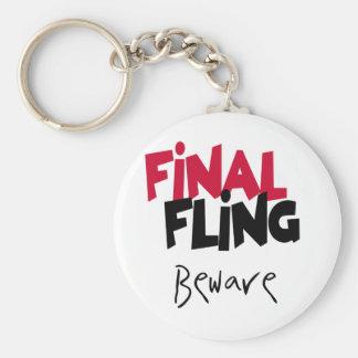 Final  Fling Beware Keychains