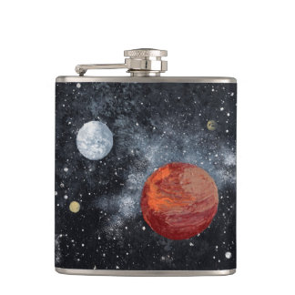 FINAL FRONTIERS (space design 3) ~ Hip Flask
