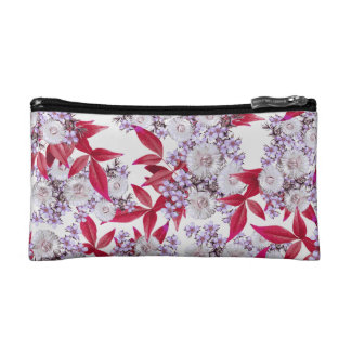 'Final Party' - Epic Abstract Floral Nature Print Cosmetic Bag