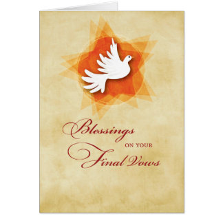 Final Solemn Vows, Nun Blessings, Holy Spirit Card
