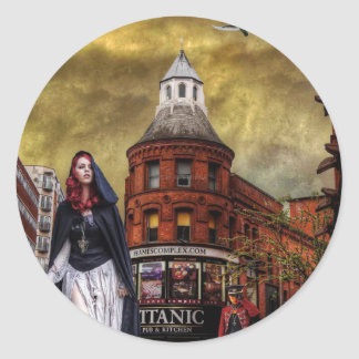 Final Voyage (Titanic Remembered). Round Sticker
