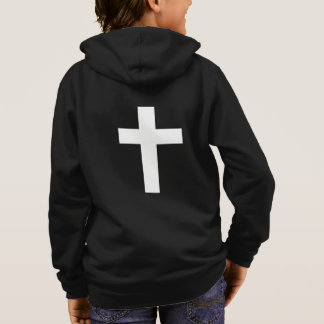 final white cross hoodie