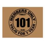 Finally 101 club postcard