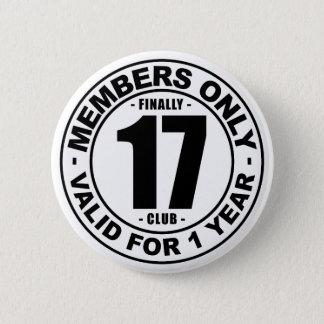 Finally 17 club 2 inch round button