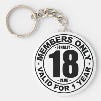 Finally 18 club keychain