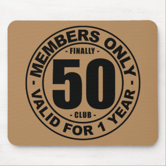 Finally 50 club mouse pad