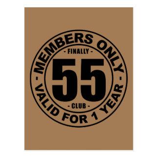Finally 55 club postcard