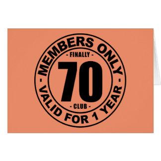 Finally 70 club card