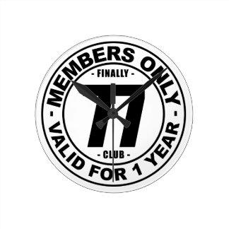 Finally 77 club clock