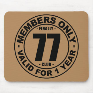 Finally 77 club mouse pad