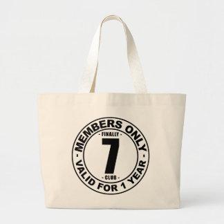 Finally 7 club jumbo tote bag