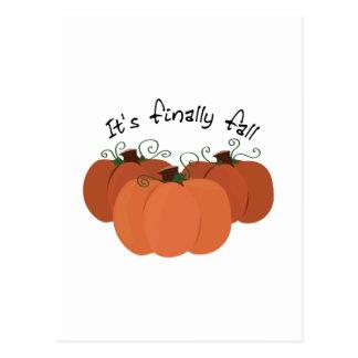 Finally Fall Postcard