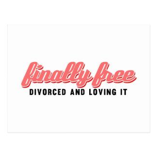 Finally Free Funny Divorce Postcard