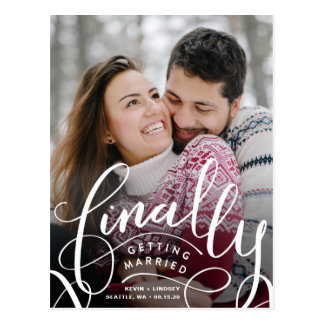 Finally Getting Married Save the Date Postcard