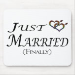 Finally Married Gay Pride Mouse Pad
