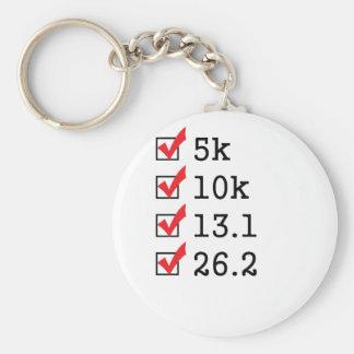 Finally ran the marathon basic round button keychain