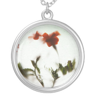 Finally spring! silver plated necklace