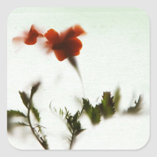 Finally spring! square sticker