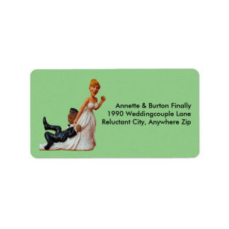 Finally Wedding Couple Funny Interracial Couple Label