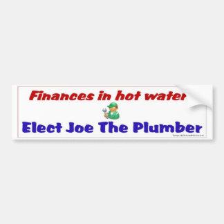 Finances in hot water? bumper sticker