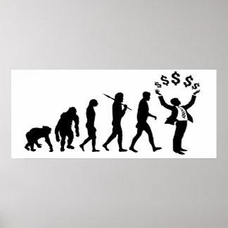 Financial adviser banker investment broker gear poster