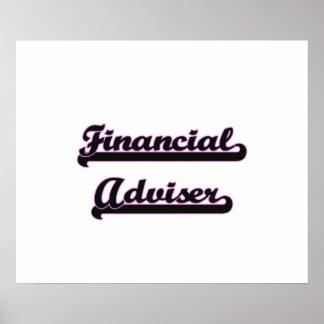 Financial Adviser Classic Job Design Poster